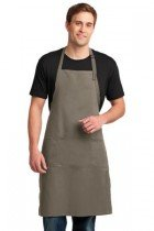 Port Authority® Easy Care Extra Long Bib Apron with Stain Release TPKC