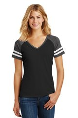 District Made® Ladies Game V-Neck Tee ML750