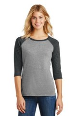 District Made® Ladies Perfect Tri® 3/4-Sleeve Raglan ML750