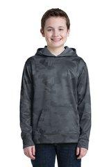 Sport-Tek® Youth Sport-Wick® CamoHex Fleece Hooded Pullover ml750
