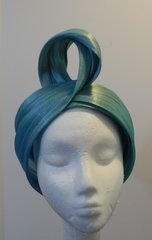 Turquoise Silk Abaca Turban is Stunning and On Trend