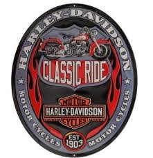Harley Classic Ride Oval Tin Sign