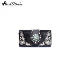 Montana West Western Concho Collection Wallet