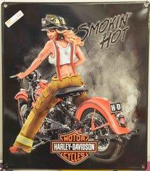 Smokin' Hot Firefighter Babe Tin Sign