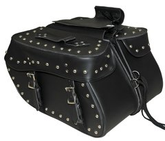 "Medium 2 Strap Studded Saddle Bag  W/Studs Size 18"" X 9. 5"" X 7"""