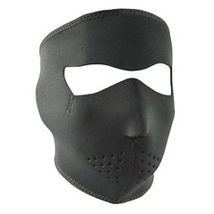 Plain Black Neoprene Facemask
