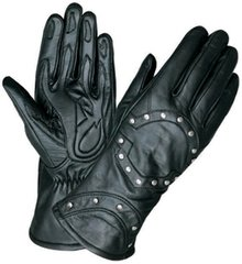 WOMEN'S MOTORCYCLE GLOVES - STUDDED