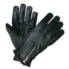 Leather Zipper Riding Gloves