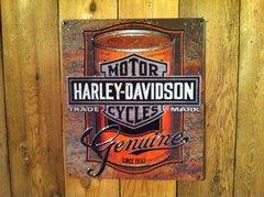 Harley-Davidson Dealers Choice Motor Oil Tin Sign