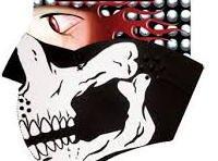 1/2 Skull Neoprene Facemask
