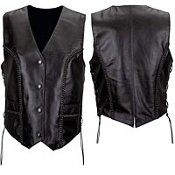 Women's Premium Braided Leather Vest