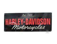 """HARLEY DAVIDSON EMBOSSED TIN SIGN - """"EST. 1903..."""""""