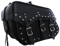 "Medium 3 Strap Studded Saddle Bag  16"" X 12"" X 8"""