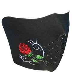 1/2 Tribal Rose Neoprene Facemask
