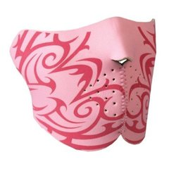 1/2 Pink Tribal Neoprene Facemask