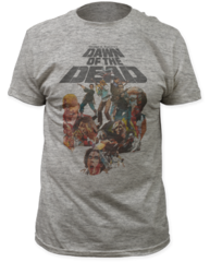 Dawn of the Dead Water Color Heather Grey Short Sleeve Adult T-shirt