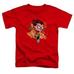 Teen Titans Go Robin Red Short Sleeve Toddler T-shirt