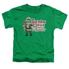 Christmas Santa Claus is Coming to Town Santa Logo Toddler T-shirt