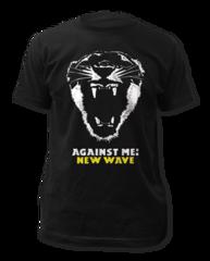 Against Me New Wave Black Cotton Short Sleeve Adult T-shirt