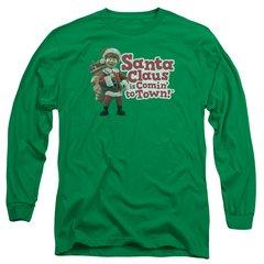 Christmas Santa Claus is Coming to Town Santa Logo Long Sleeve T-shirt