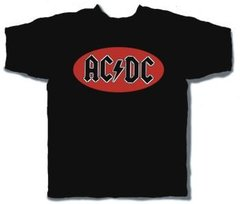 AC/DC  Classic Oval Black Short Sleeve Adult T-shirt