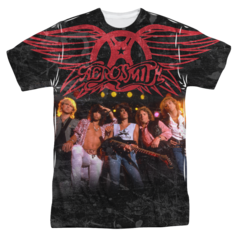 Aerosmith Stage Sublimation Print Front Only Adult T-shirt