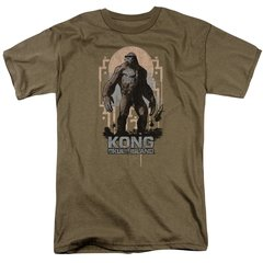 Kong Skull Island Immense Safari Green Short Sleeve Adult T-shirt