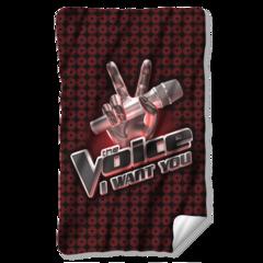 The Voice Logo Fleece Blanket