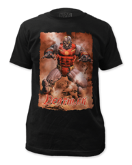 Deathlok Action Portrait Adult T-shirt