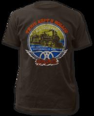 Aerosmith Train Kept A Rollin 100% Cotton Short Sleeve Adult T-shirt
