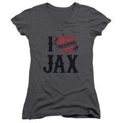 Sons of Anarchy I Heart Jax Junior V-Neck T-shirt