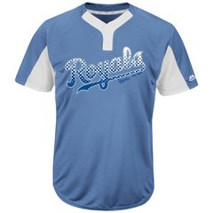 Kansas City Royals Majestic MLB Two Button Color Blocked Jersey
