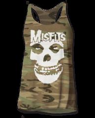 The Misfits Skull Logo Camo Women's Tank Top T-shirt