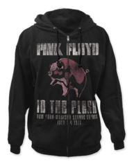 Pink Floyd In The Flesh Black Adult Zipper Hoodie