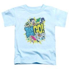 Teen Titans Go Go Light Blue Short Sleeve Toddler T-shirt