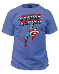 Captain America Red White and Blue Adult T-shirt