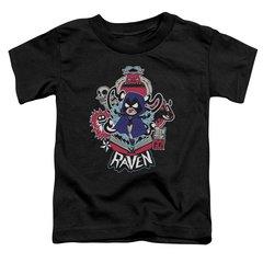 Teen Titans Go Raven Black Short Sleeve Toddler T-shirt