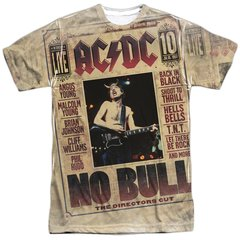 AC/DC No Bull Front and Back Print Short Sleeve Adult T-shirt