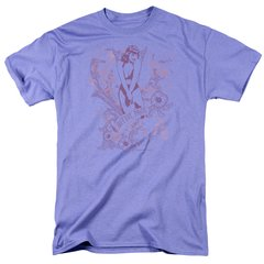 Bettie Page Flowers Lavender Short Sleeve Adult T-shirt