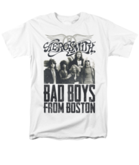 Aerosmith Bad Boys White Short Sleeve Adult T-shirt