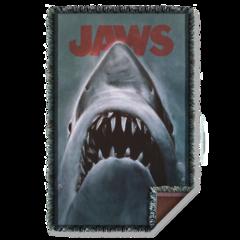 Jaws Shark Woven Throw Blanket