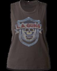 LA Guns Logo Black Sleeveless Women's T-shirt