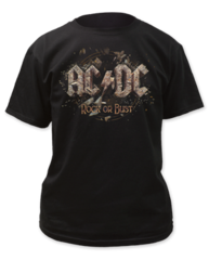 AC/DC Rock or Bust Black Short Sleeve Adult T-shirt