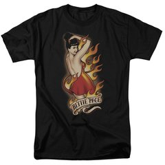 Bettie Page Devil Tattoo Black Short Sleeve Adult T-shirt