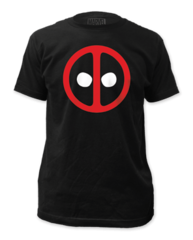 Deadpool Logo Black Cotton Short Sleeve Adult T-shirt