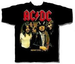 AC/DC Highway to Hell 129 Black Short Sleeve Adult T-shirt