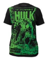 Incredible Hulk Monster Unleashed Big Print Adult T-shirt