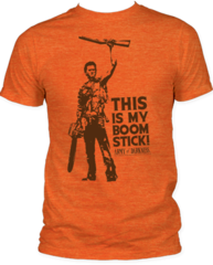 Army of Darkness This is My Boomstick Heather Orange Short Sleeve Adult T-shirt