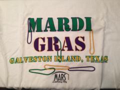 Mardi Gras Beads Adult T-shirt