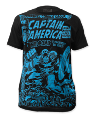 Captain America Madbomb Big Print Adult T-shirt